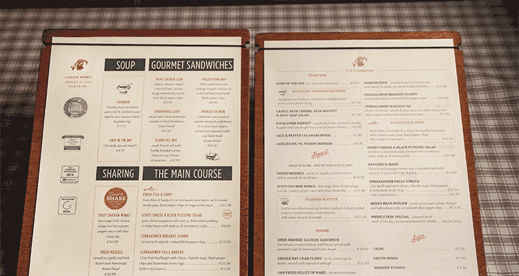 Lunch and Evening Menus